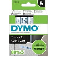 DYMO Labelling Tape 45014 12 mm x 7 m Blue , White
