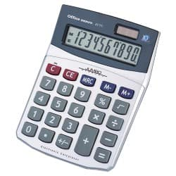 Office Depot® AT711 Desktop Calculator 10 Digit Battery/Solar Powered 160 x 115 x 40 mm