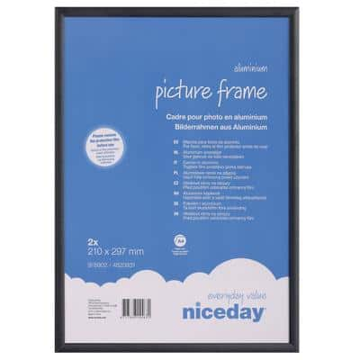 Niceday Picture Frame A4 297 x 210 mm 2 Pieces