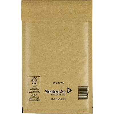 Sealed Air Mailing Bags B/00 79gsm Gold Plain Peel and Seal 140 x 220 mm 100 Pieces