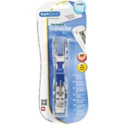 Rapesco Supaclip® #60 See Through Heavy Duty Dispenser & 8 Stainless Steel Clips
