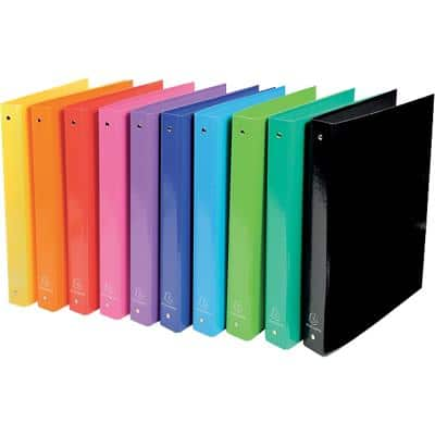 Exacompta Ring Binder 4 Rings 30 mm Polypropylene Assorted 10 Pieces
