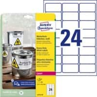 Avery Waterproof Labels Heavy Duty White 480 labels per pack