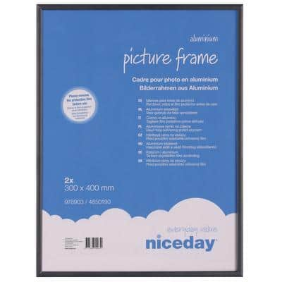 Niceday Aluminium Frame Black 400 H x 300 W mm 2 Per Pack