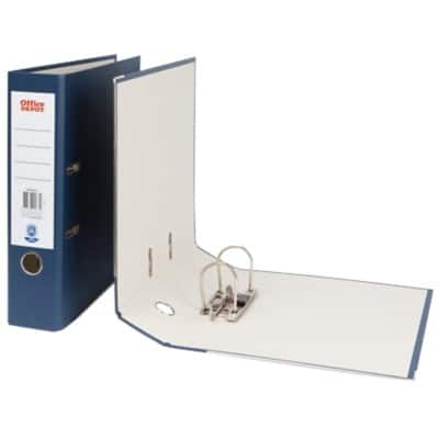 DARK BLUE OFFICE DEPOT A4 BOX FILE 75MM SPINE CHOOSE QUANTITY