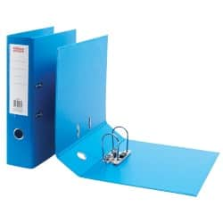 Office Depot Lever Arch File Foolscap 2 ring 75 mm Blue