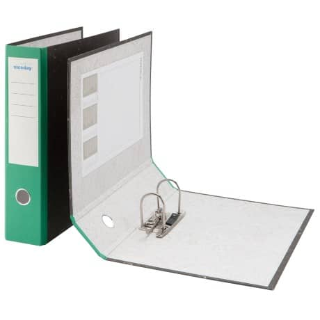 Niceday Economy Lever Arch File Foolscap 80 mm Green