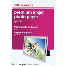 Office Depot A4 Inkjet Photo Paper, Glossy, 240gsm