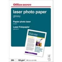 Office Depot Laser Photo Paper A4 135gsm White 250 Sheets