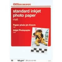 Office Depot Everyday Inkjet Photo Paper, Matte, A4, 165gsm