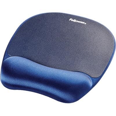Fellowes Mouse with Wrist Rest Memory Foam Blue