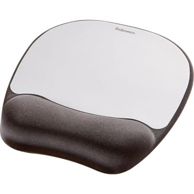 Fellowes Mouse Pad Memory Foam Black, Silver
