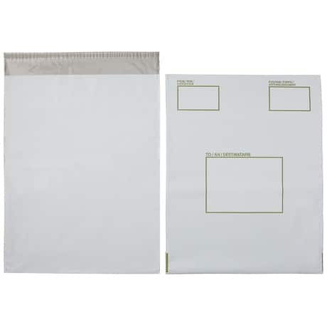 Post Safe Extra Strong Polythene Envelopes C3 White Opaque 335 x 430mm 20 Per Box