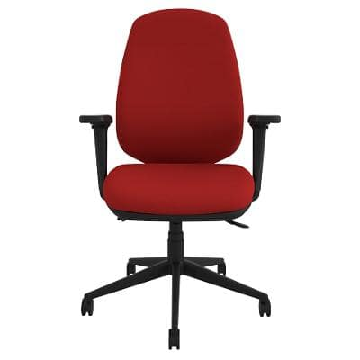Energi-24 Synchro Tilt Ergonomic Office Chair with Adjustable Armrest and Seat Air-Care Red