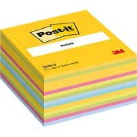 Post-it Sticky Notes Cube 76 x 76 mm Ultra Assorted Colours 450 sheets