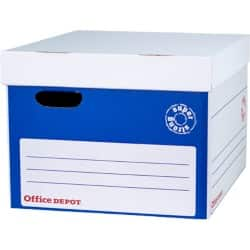 Office Depot Super Strong Easy Assembly XL Archive Box A4 Blue  Pack of 10