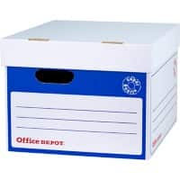 Office Depot Archive Boxes Blue, White 34.6 x 41 x 26.4 cm 10 Pieces