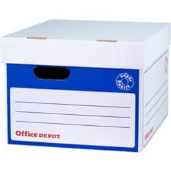 Office Depot Super Strong Easy Assembly Archive Box A4 Blue - Pack of 10