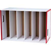 Office Depot Lever Arch File Storage Unit Red and White - Pack of 1
