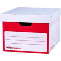 Office Depot Self Locking Mechanism Archive Boxes Red 262(H) x 349(W) x 412(D) mm Pack of 10
