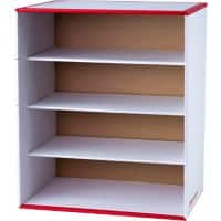 Office Depot Storage Box Red, White 37.8 x 44.8 x 25.8 cm