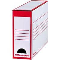 Office Depot Transfer File Red, White 97 mm Hardboard Pack of 10