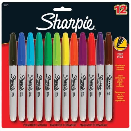 Sharpie Permanent Markers - Assorted 12/pk