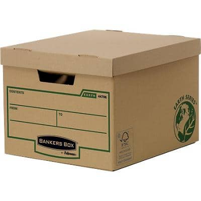 Bankers Box Earth Series Standard Archive Boxes Brown 270(H) x 335(W) x 391(D) mm Pack of 10