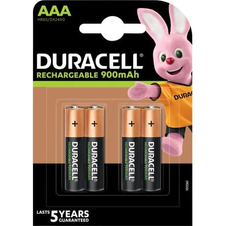 Duracell AAA Akkus Rechargeable Batteries 4 per pack