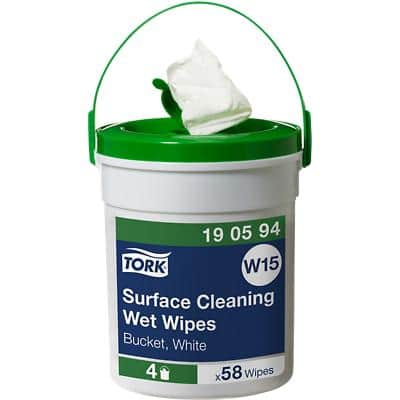 Tork Surface Cleaning Wet Wipes W15 White Pack of 58