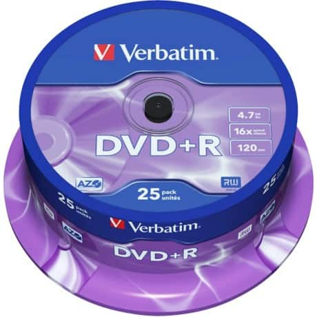Verbatim DVD+R 16X 4.7 GB Spindle (25 Pack)