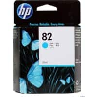 HP 82 Original Cyan Ink Cartridge CH566A