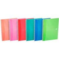 OXFORD Office My Colours A5 Wirebound Assorted Poly Cover Notebook Ruled 180 Pages Pack of 5