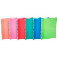 OXFORD Office Notebook Assorted A4 Ruled Perforated 180 Sheets Pack of 5
