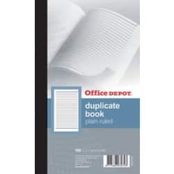 Office Depot plain ruled 216 x 130 mm duplicate book (100 sheet sets)