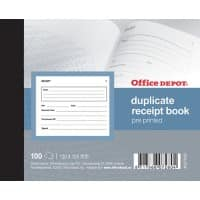 Office Depot Duplicate Receipt Book Perforated 100 Sheets