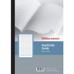 Office Depot plain ruled A4 duplicate book (100 sheet sets)