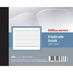 Office Depot plain ruled 105 x 130 mm triplicate book (100 sheet sets)
