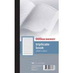 Office Depot plain ruled 216 x 130 mm triplicate book (100 sheet sets)