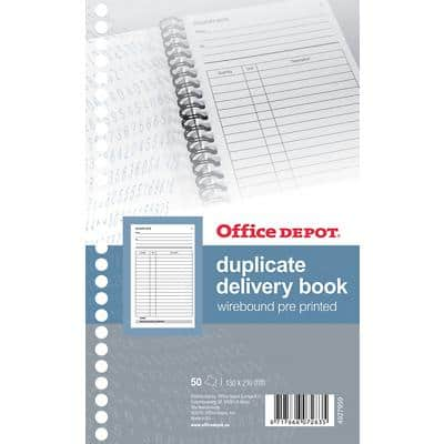 Office Depot Duplicate Delivery Book  13 x 21 cm Perforated 200 Sheets