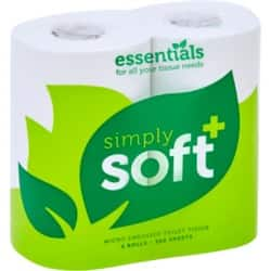 essentials Toilet Paper Simply-Soft 2 Ply 36 Rolls of 320 Sheets