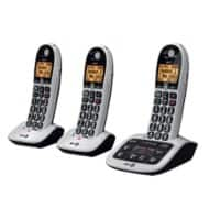 BT BT4600 Trio Cordless Telephone Black Pack of 3