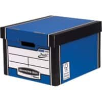 Bankers Box Premium Presto Classic Archive Boxes Blue 257(H) x 342(W) x 400(D) mm Pack of 10