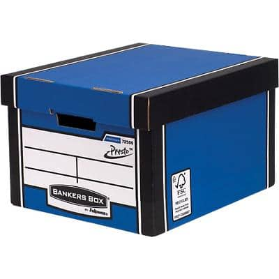 BANKERS BOX® Premium Heavy-Duty Classic Storage Box Blue - Pack of 10