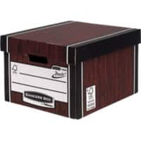 Bankers Box Premium Presto Classic Archive Boxes Woodgrain 257(H) x 342(W) x 400(D) mm Pack of 10