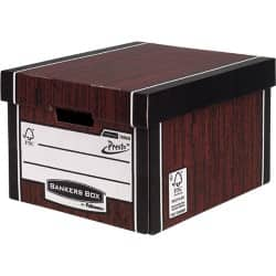 Fellowes Bankers Box Presto Classic Storage Box A4 Wood Grain - Pack of 10