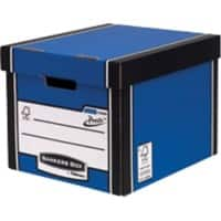 BANKERS BOX Premium Archive Boxes Blue 34.2 x 40 x 30.3 cm 10 Pieces