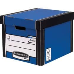 Fellowes Bankers Box Premium Presto Tall Storage Box A4 Blue - Pack of 10