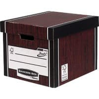 Bankers Box Premium Presto Tall Archive Boxes Woodgrain 303(H) x 342(W) x 400(D) mm Pack of 10