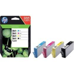 HP 364XL Original Ink Cartridge N9J74AE Black & 3 Colours 4 pieces